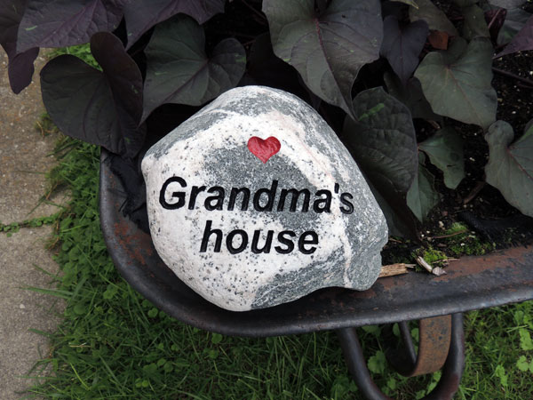 13-17 lb Engraved Stone