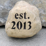 33-37 lb Engraved Stone