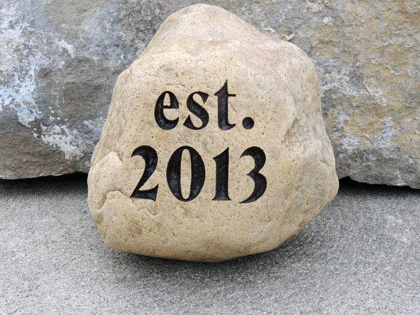 33-37 lb Engraved Stone