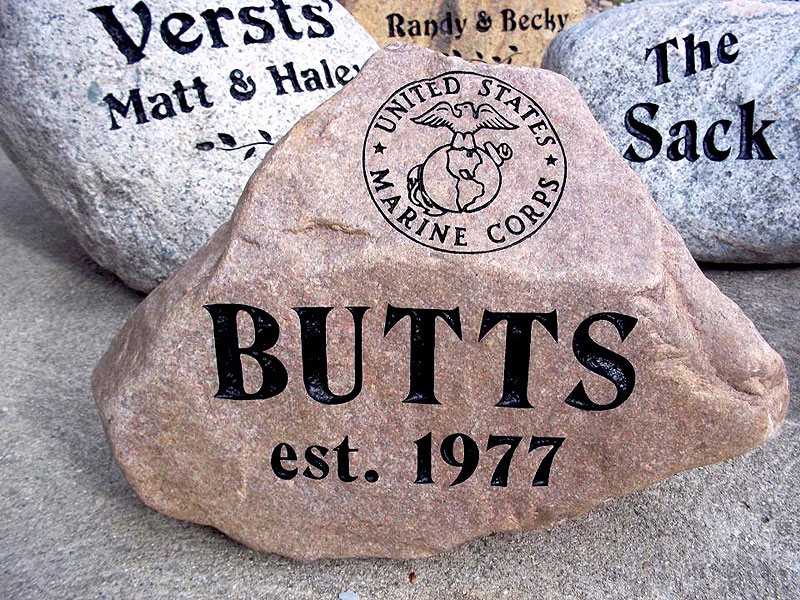 Landscape Rock With Engraving : Personalized name rocks submited images