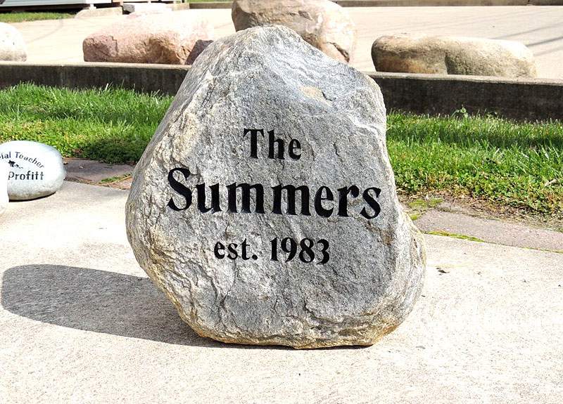 Landscape Rock With Engraving : Engraved stones rock garden engraving